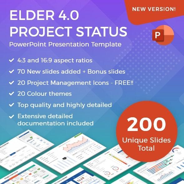 Elder 4.0 – A Project Status Report PowerPoint Template - PowerPoint Templates Presentation Templates