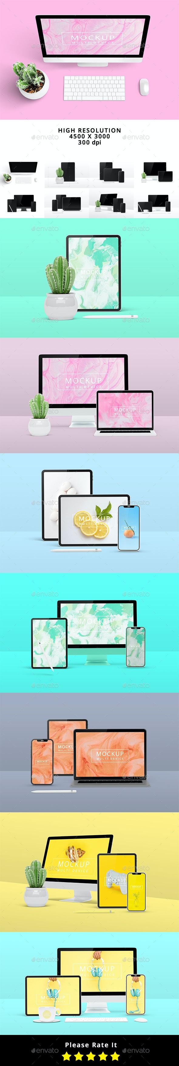 Multi Device Mockup - Scene Creator - Multiple Displays