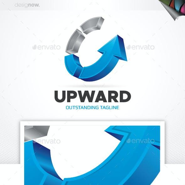 Circle Arrow Up Logo