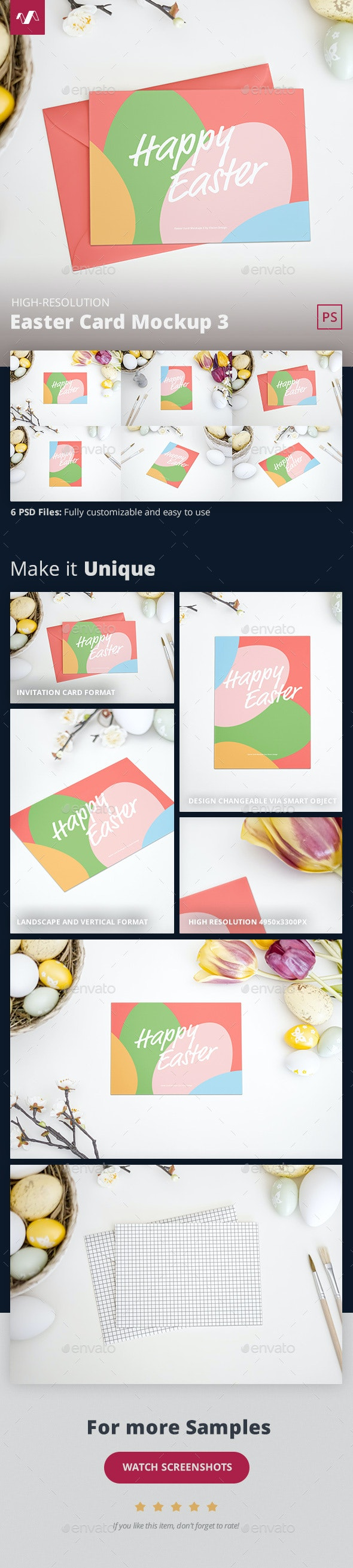 Easter Card Mockup 3 - Miscellaneous Print