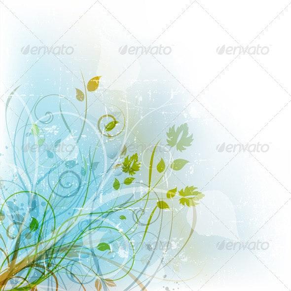 Floral Grunge - Backgrounds Decorative