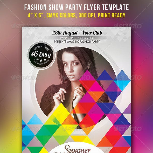 Fashion Show Party Flyer