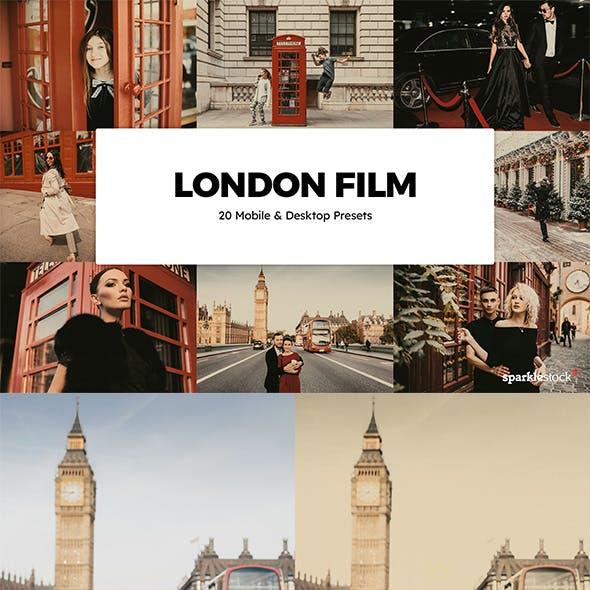 20 London Film Lightroom Presets & LUTs