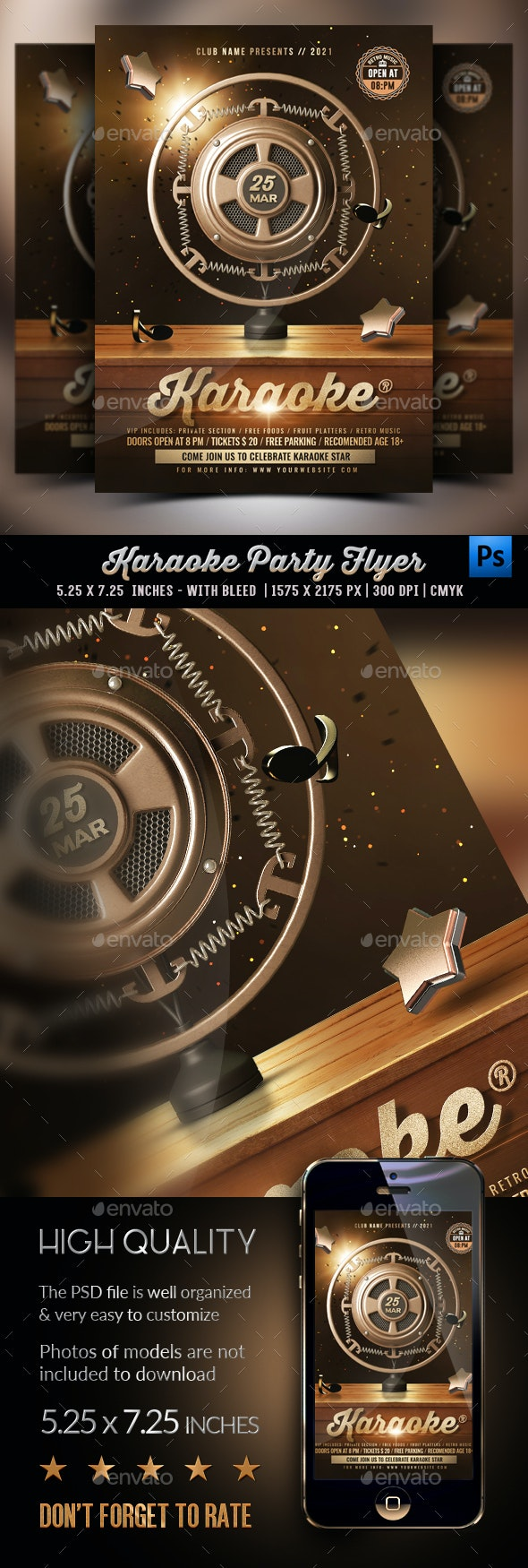 Karaoke Party Flyer - Clubs & Parties Events