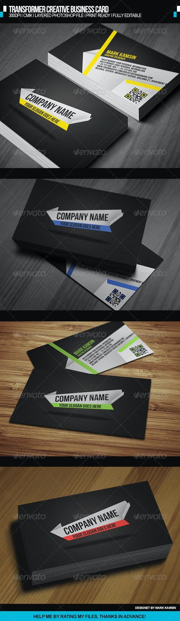 Transformer Creative Business Card - Creative Business Cards
