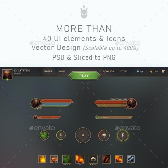 Burning Moon Game UI