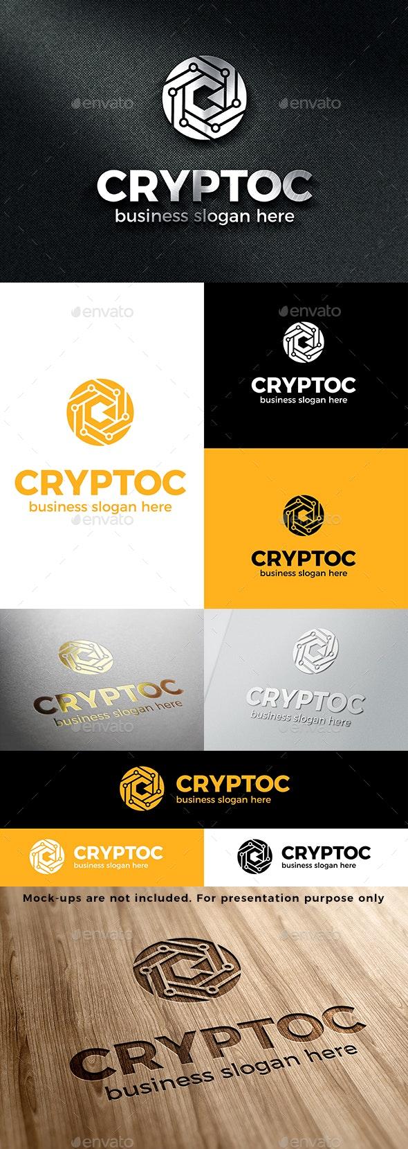 Crypto C Tech Logo - Vector Abstract