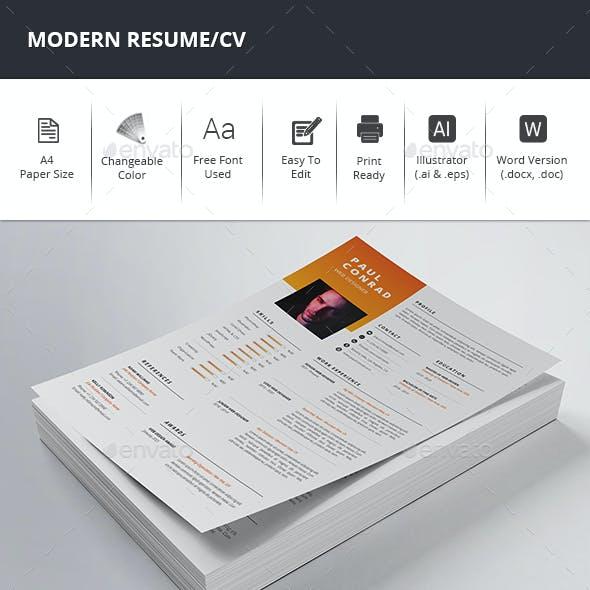 Modern Resume/CV