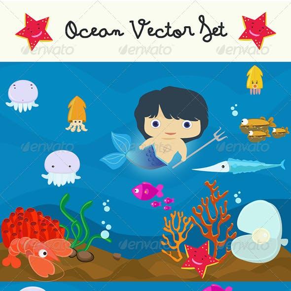 Ocean Vectors Set