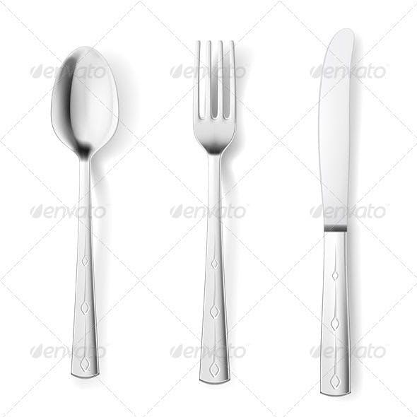 Cutlery fork spoon knife