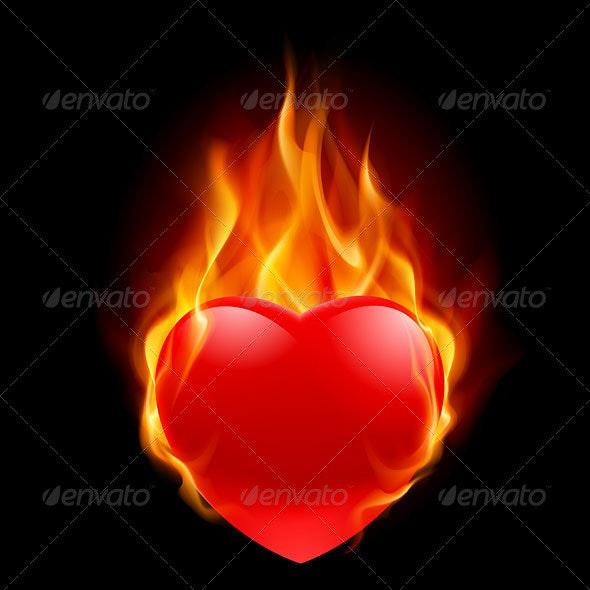 Burning Heart - Tattoos Vectors