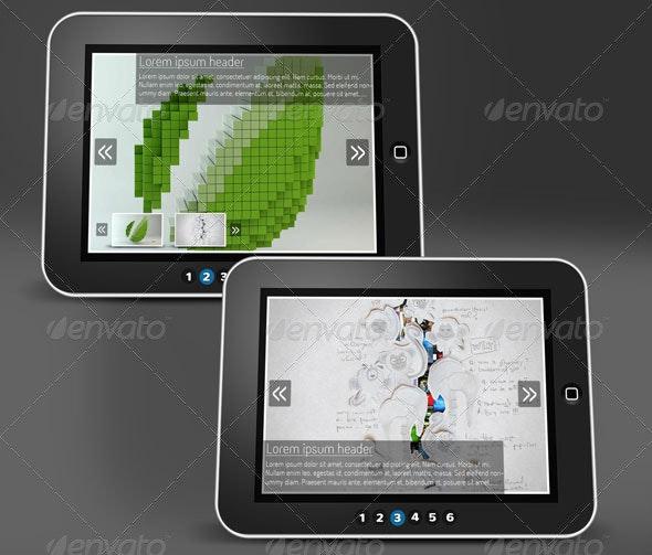 Tablet Web Slider - Sliders & Features Web Elements