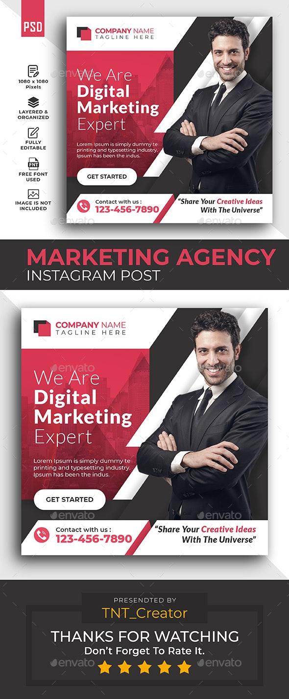 Digital Marketing Agency Promotion Instagram post - Social Media Web Elements