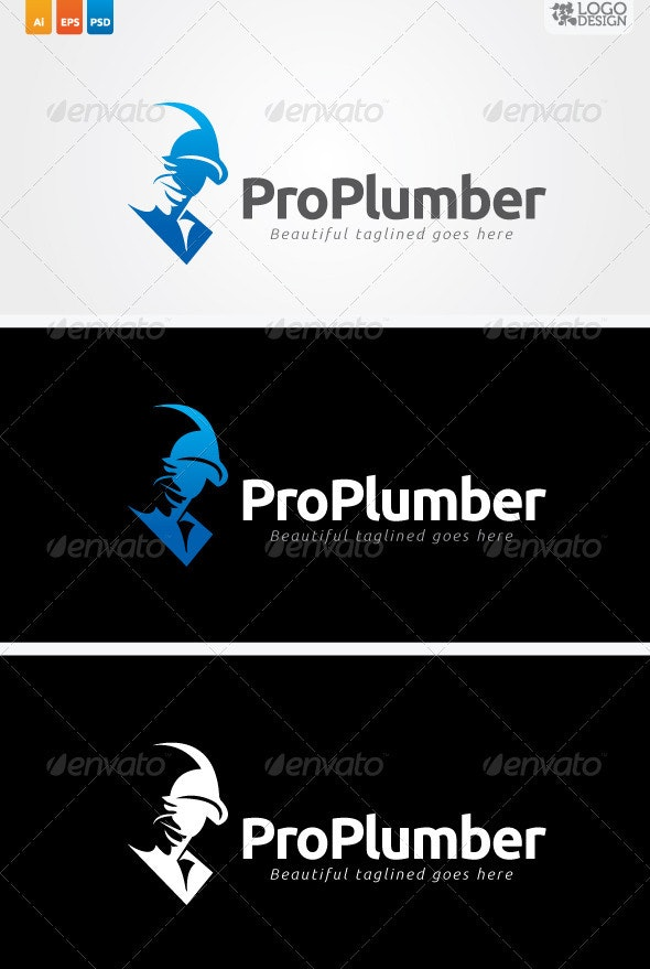 Pro Plumber - Humans Logo Templates