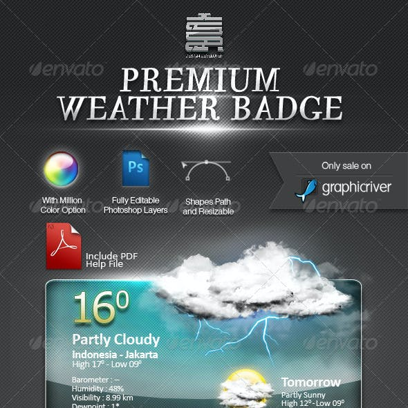 Weather Badge For Web