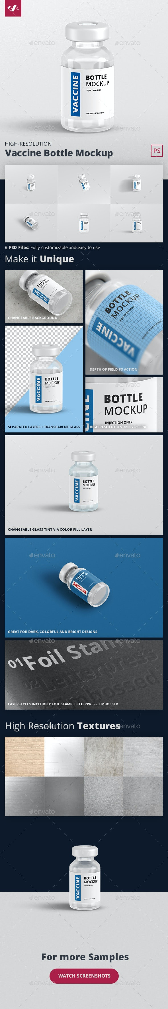 Vaccine Bottle Mockup - Miscellaneous Packaging