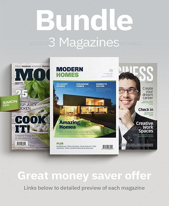 Magazine Bundle Vol. 1-2-3 - Magazines Print Templates