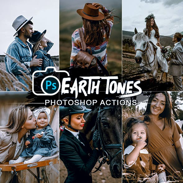 Earth Tones Photoshop Actions