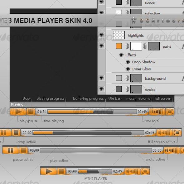 Web Media Player Skin 4.0