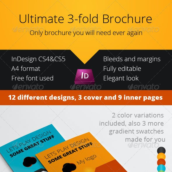 Ultimate Business 3-fold Brochure InDesign