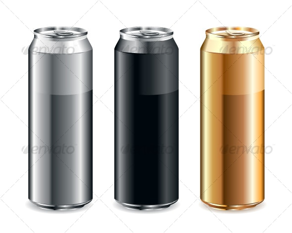 Realistic Cans - Objects Vectors