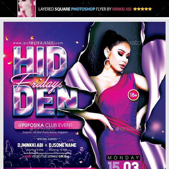 Hidden Fridays Flyer
