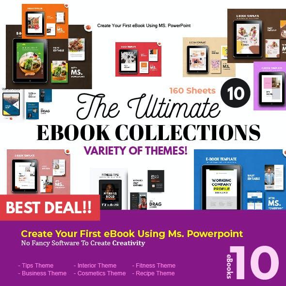 Multipurpose 10 Bundle Presentation PowerPoint Template - eBook Template
