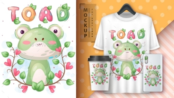 Toad in Flower Poster and Merchandising - Animals Characters