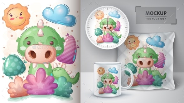 Crocodile in Bush Poster and Merchandising - Animals Characters