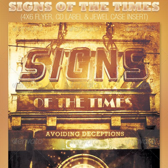 Signs of the Times Church Flyer and CD Template
