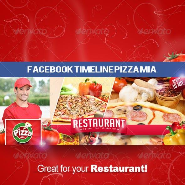 Facebook Timeline Cover Pizza Mia
