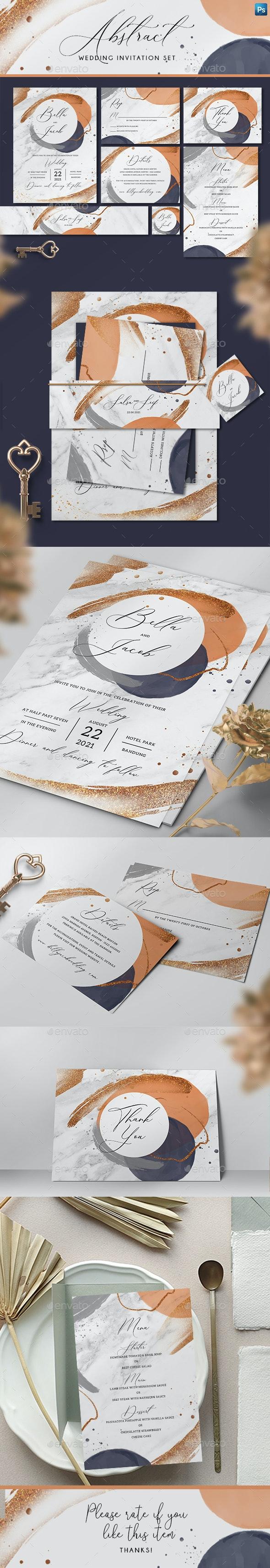 Abstract Wedding Invitation Set - Invitations Cards & Invites