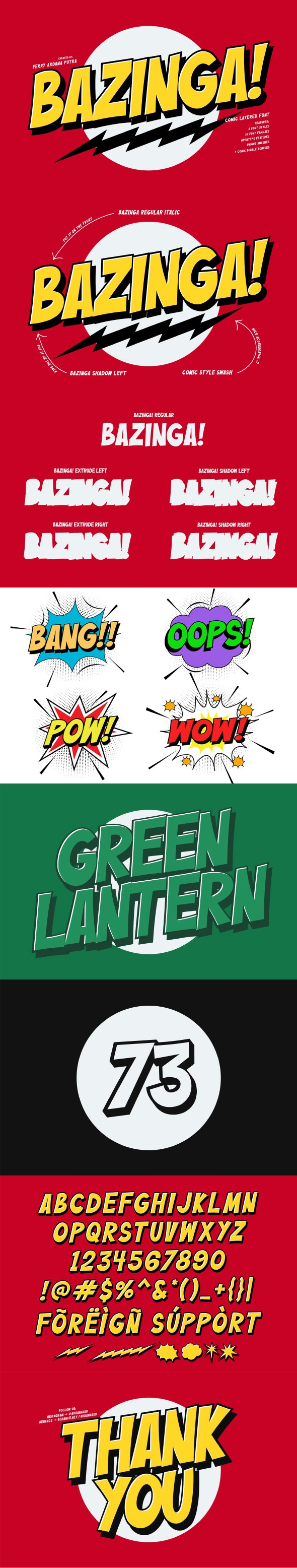 Bazinga! | Comic Layered Font - Comic Decorative