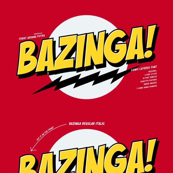 Bazinga!   Comic Layered Font