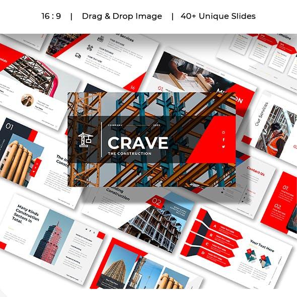 Crave - Construction Business Presentation Powerpoints Template