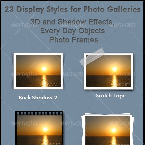 23 Display Styles for Photo Galleries