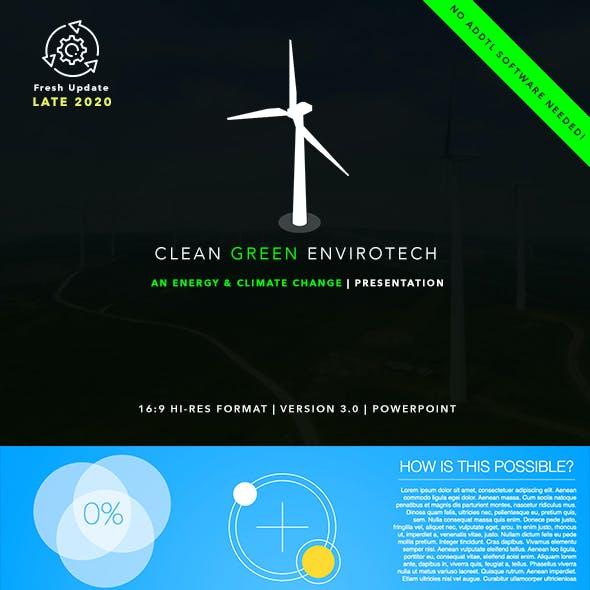 Clean Green Envirotech PowerPoint Presentation