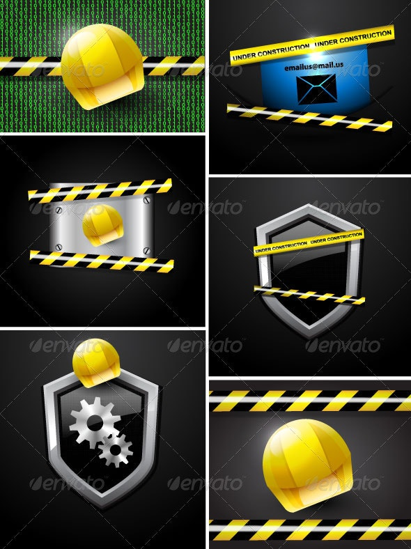 Page Under Construction Vector - Web Technology