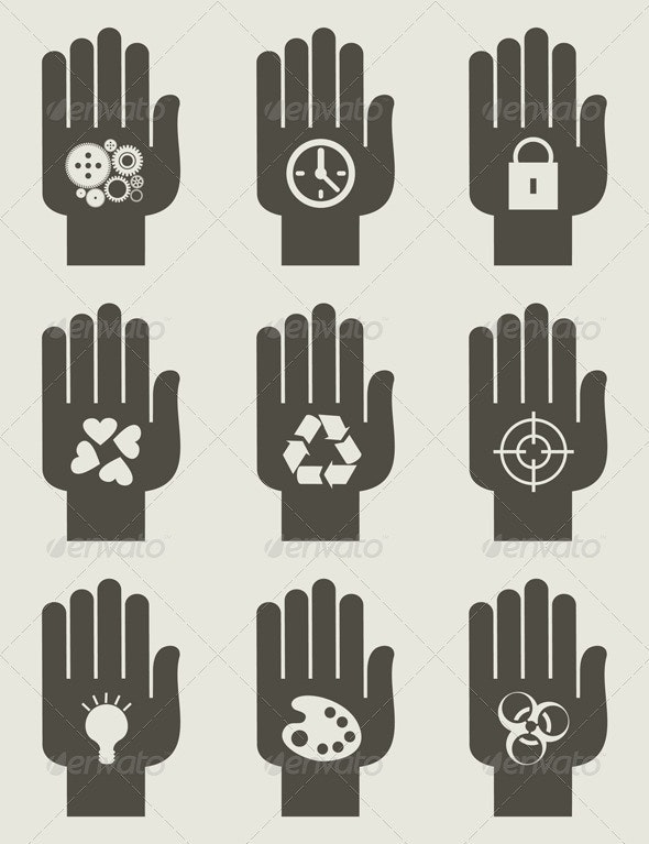 Set of hands - People Characters