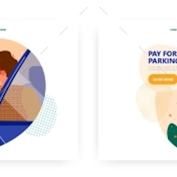 Pay for Parking Landing Page Design Website