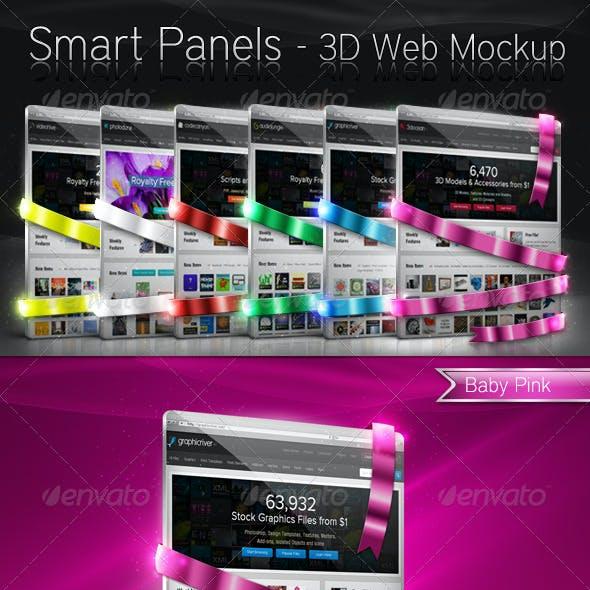 Smart Panels - 3D Web Mockup