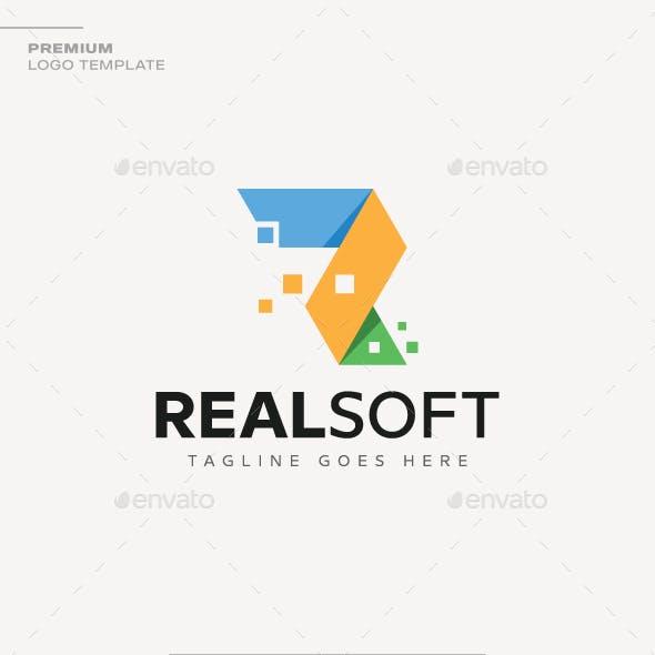 Letter R - Real Soft Logo
