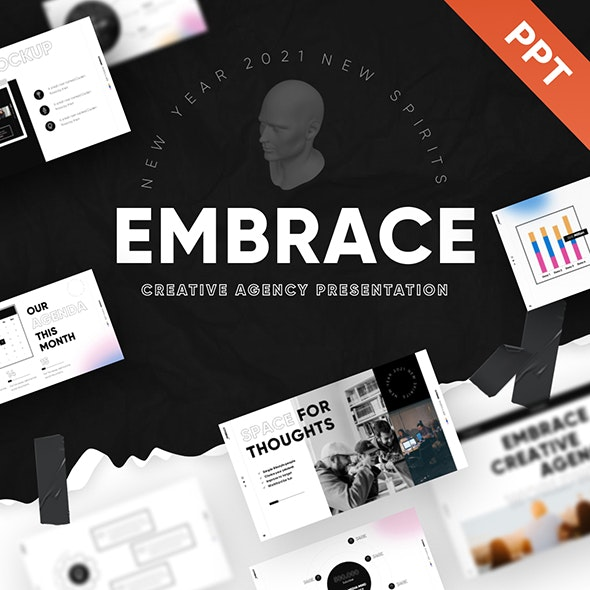 Embrace Creative Agency PowerPoint Template - Creative PowerPoint Templates