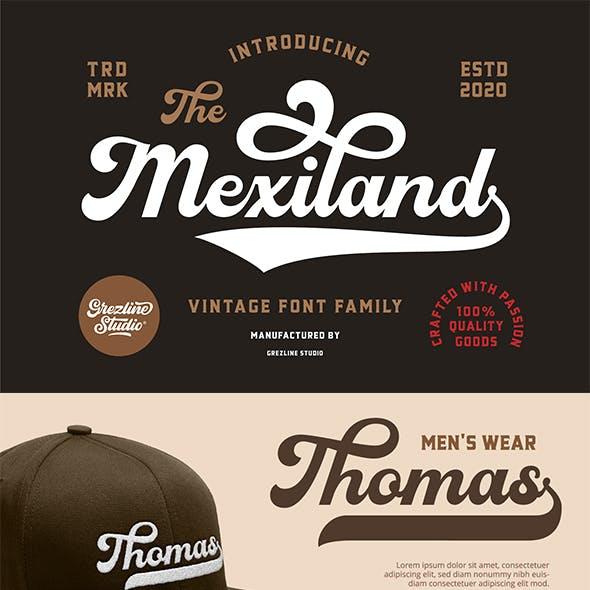 Mexiland - Vintage Font Duo