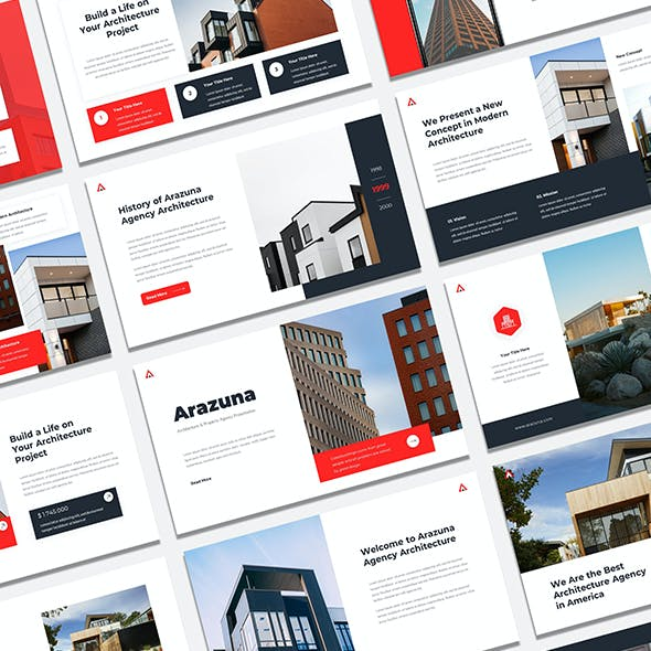 Arazuna Architecture & Property Agency PowerPoint Presentation Template