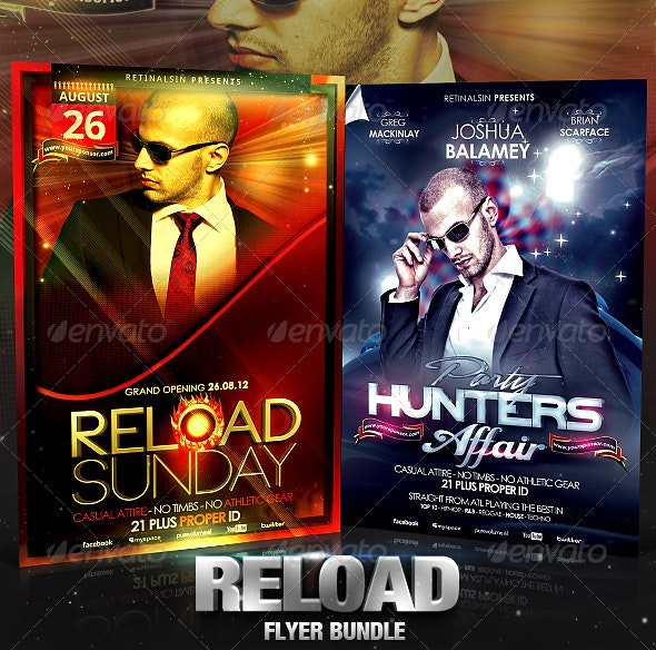 Reload Flyer Bundle - Clubs & Parties Events