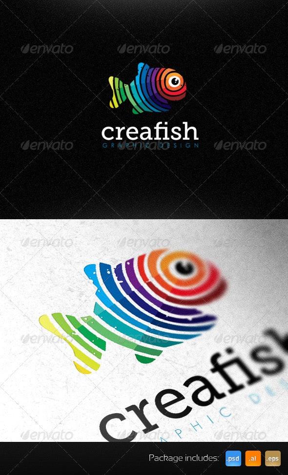 Creative Fish Graphic Design Studio Bright Logo - Animals Logo Templates
