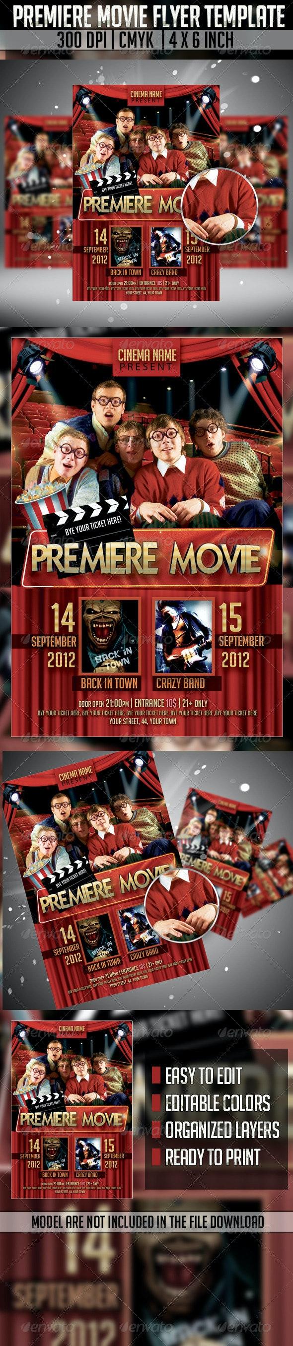 Premiere Movie Flyer Template - Miscellaneous Events