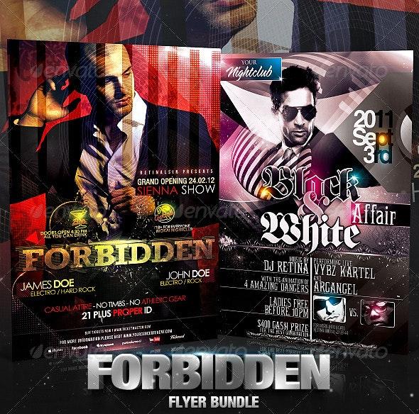 Forbidden Flyer Bundle - Clubs & Parties Events