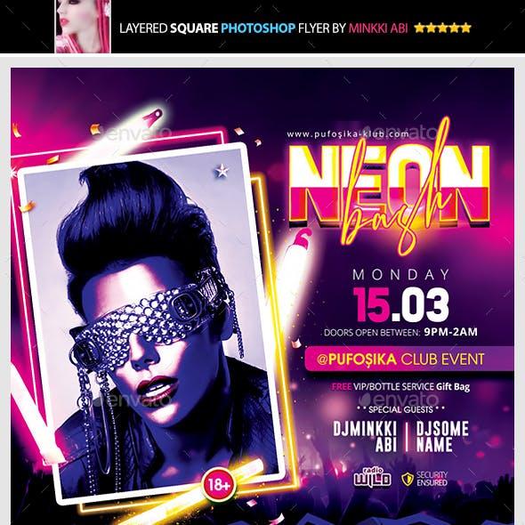 Neon Bash Flyer